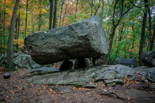 The Tripod Rock. New Jersey 2009.